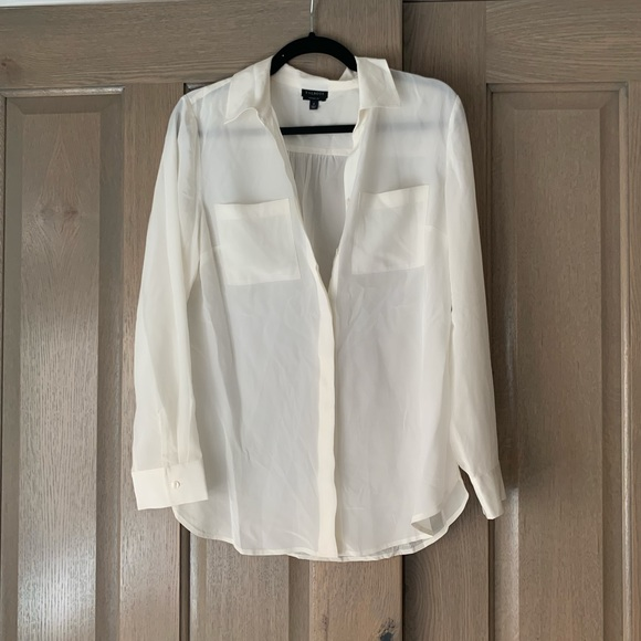 Talbots Tops - Elegant cream blouse